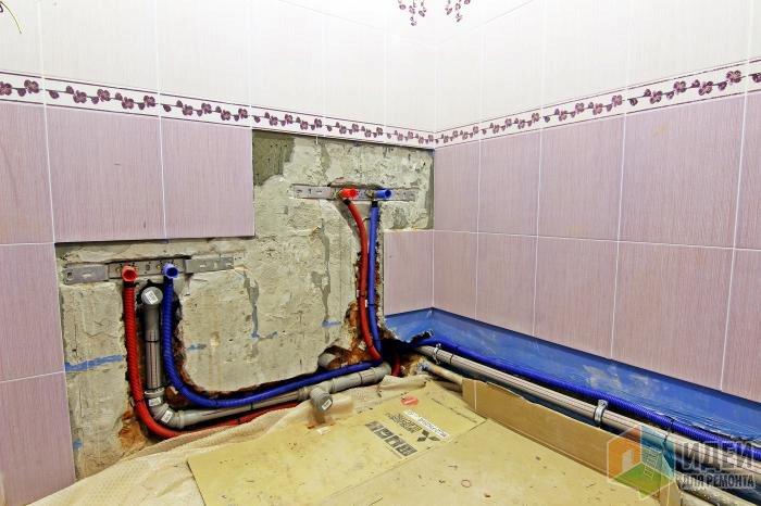 Выводы для ванной и раковины (переделка)