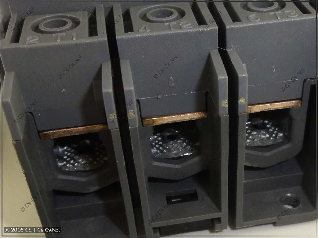 Рубильник ABB OTM (с моторным приводом) - клеммы для кабелей