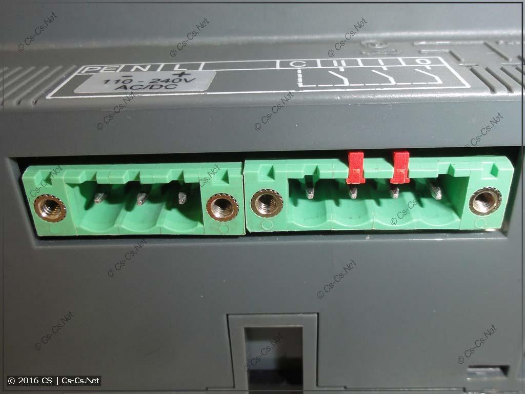 Рубильник ABB OTM (с моторным приводом) - разъёмы управления