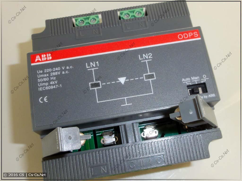 Блок АВР ODPS230C для автоматического управления рубильниками OTM