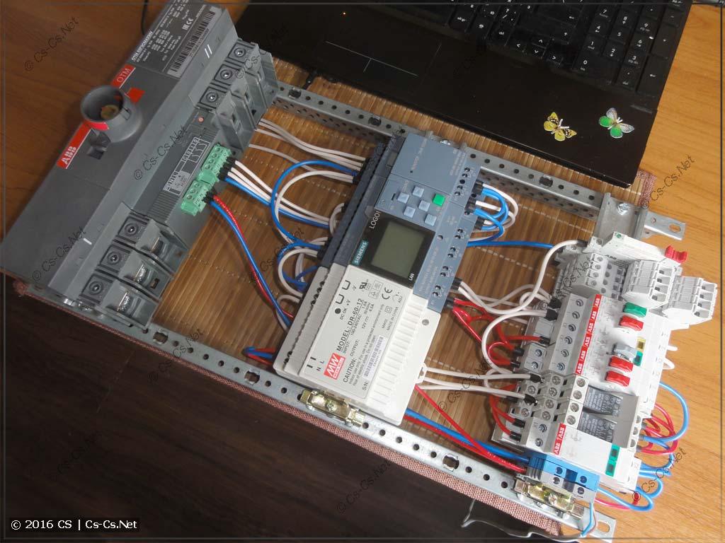 Мой тестовый стенд для управления логикой АВР на базе OTM