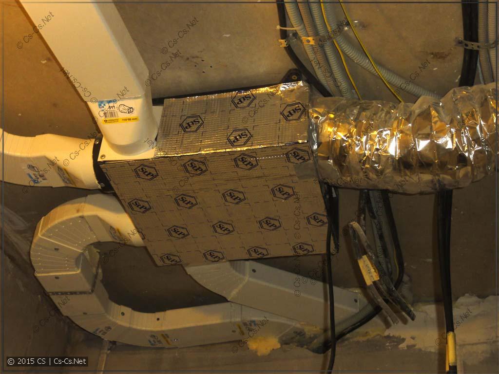 Вентиляционная установка (ПВУ) и воздуховоды без изоляции