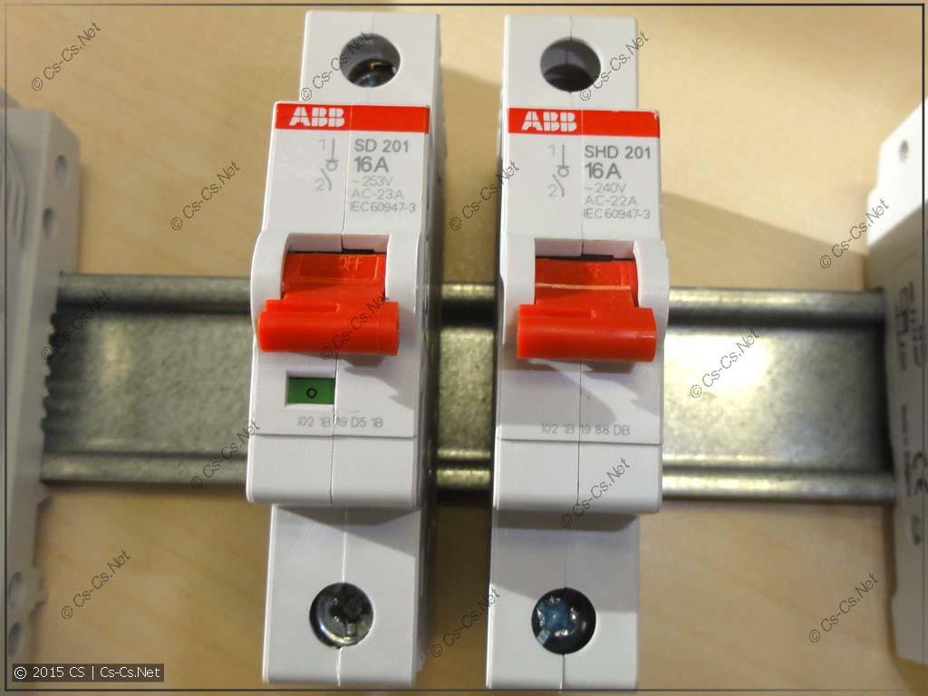 Однополюсные рубильники SD201 и SHD201