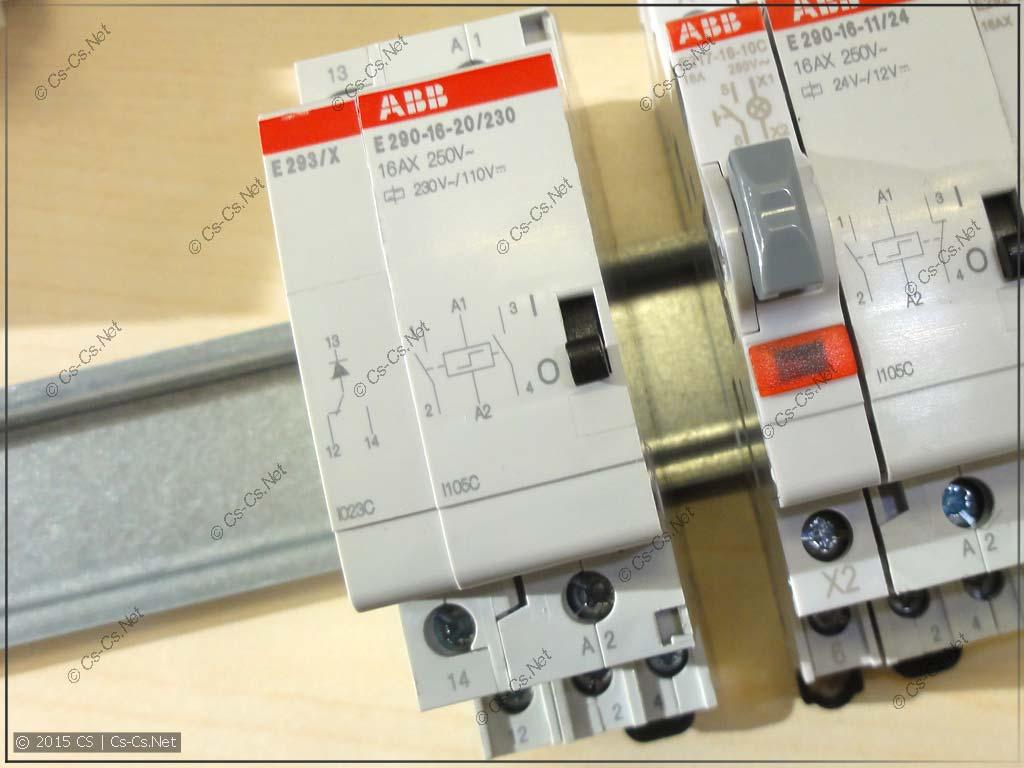 Импульсное реле ABB E290-16-20/230 с модулем центрального управления E293X