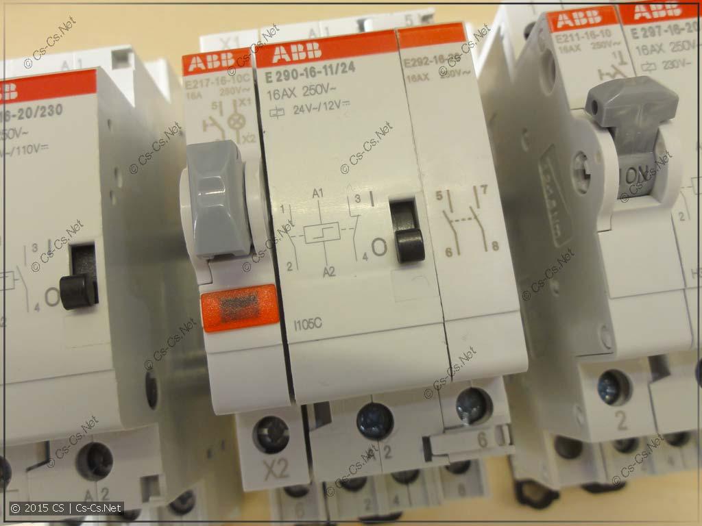 Импульсное реле ABB E290-16-11/24 с дополнительным контактом E290-16-20