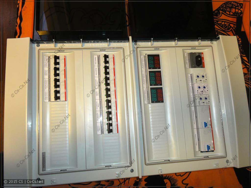 Бюджетный трёхфазный щиток на УЗО и автоматах