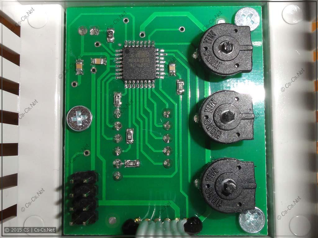 Плата управления реле на микроконтроллере Atmel