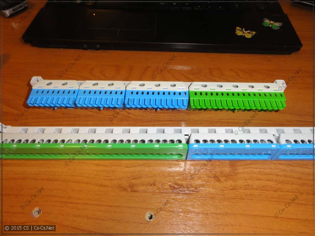 Пример компоновки шинок на держателе