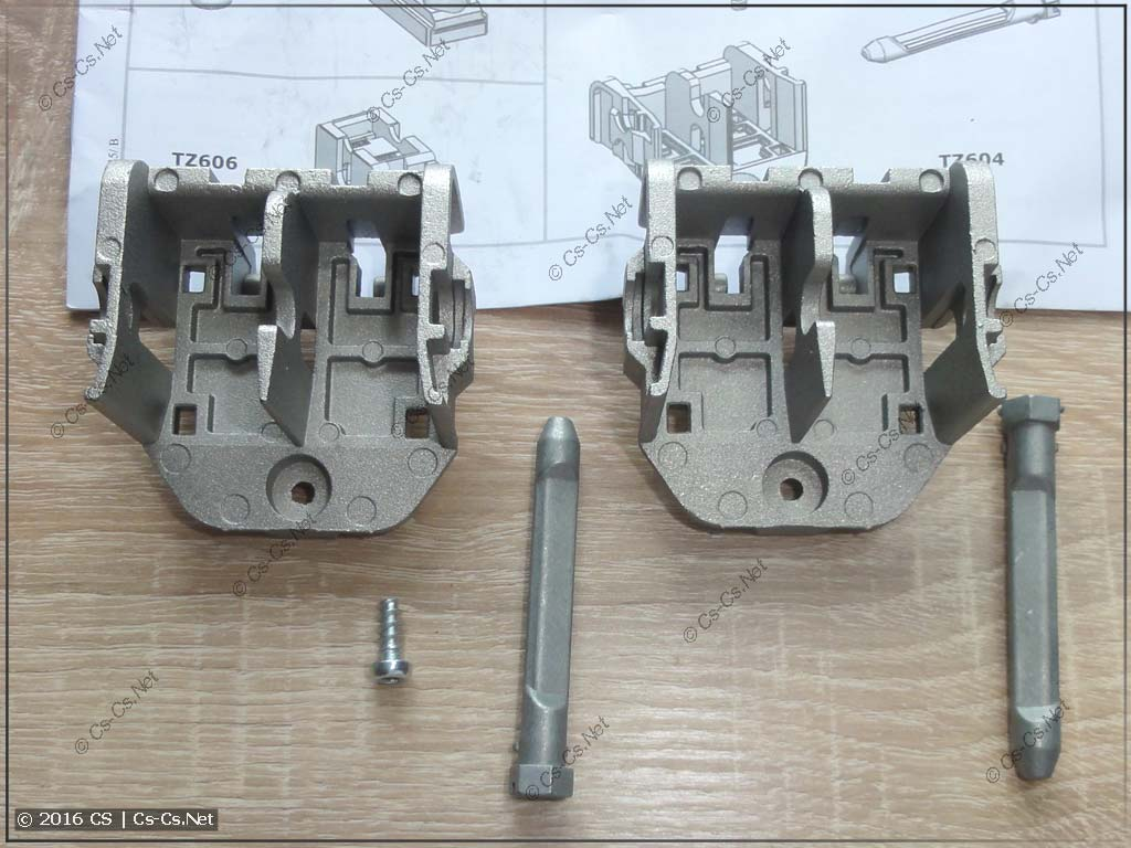 Держатель TZ604 для двух WR-профилей
