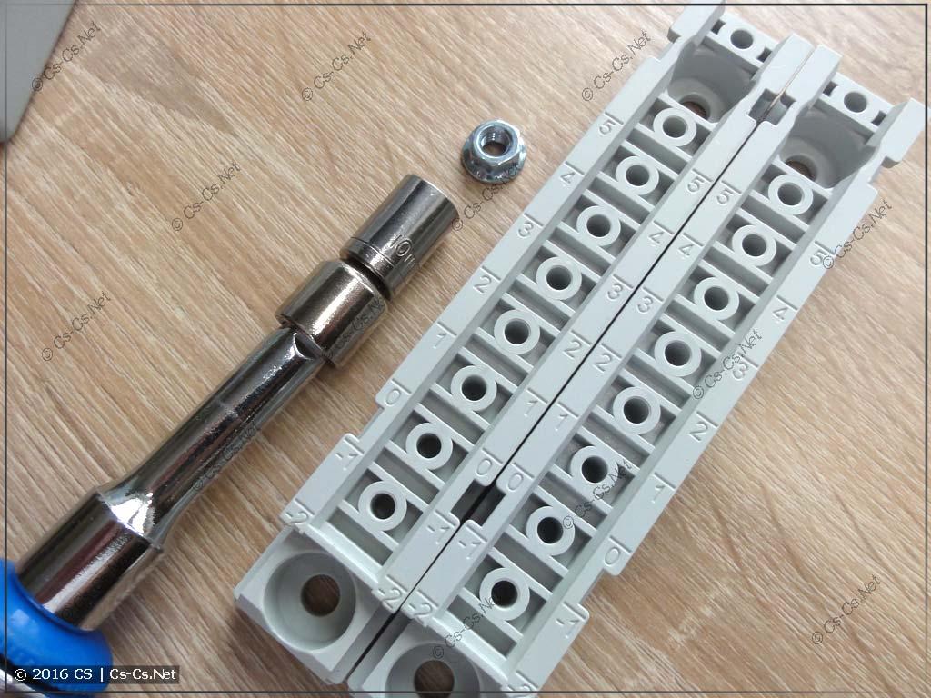 Подготовка оснований TZ601 для монтажа в шкаф