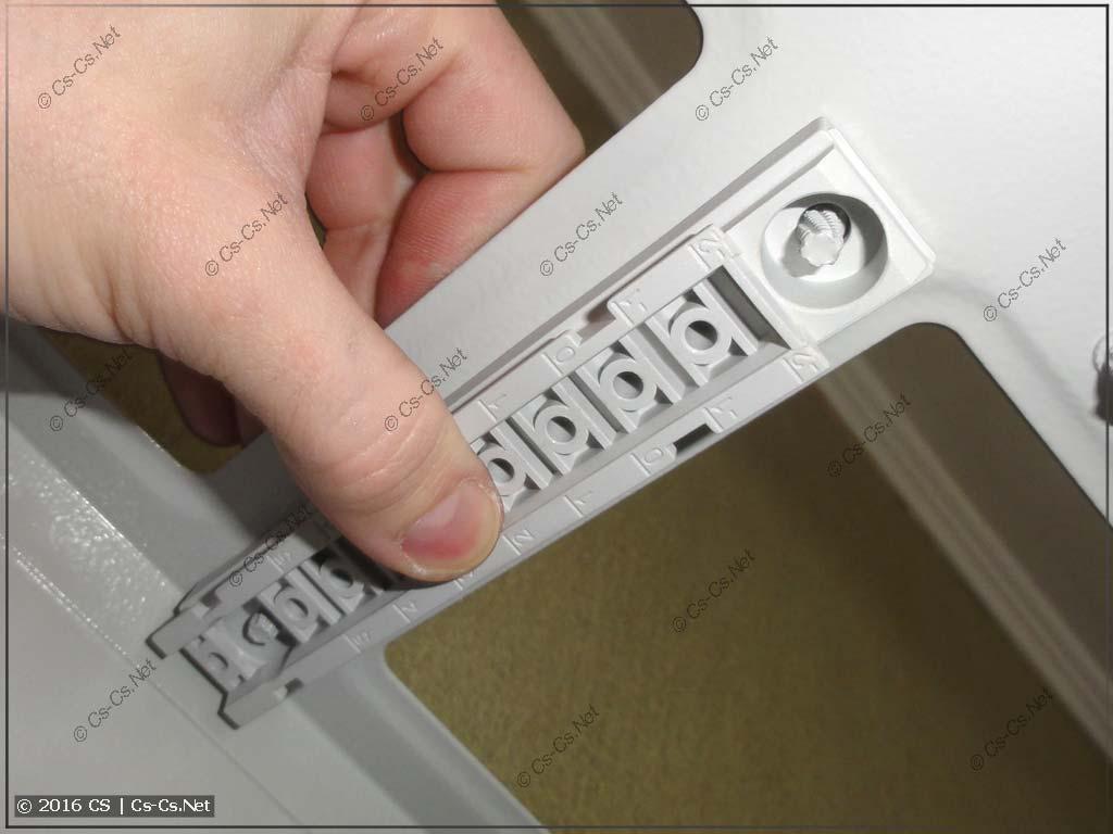 Монтаж основания TZ601 в шкаф