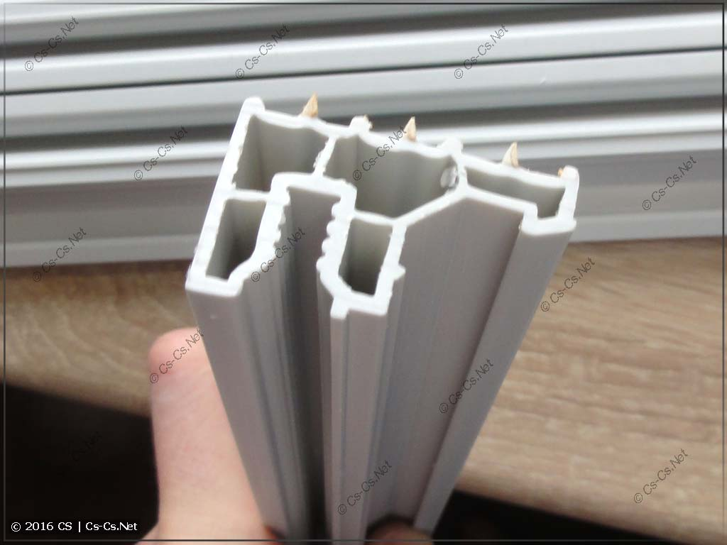 Профиль защитного ограждения шкафов TwinLine