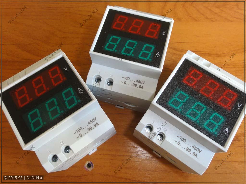 Вольтметр-амперметры Меандр ВАР-М01 с новыми винтами