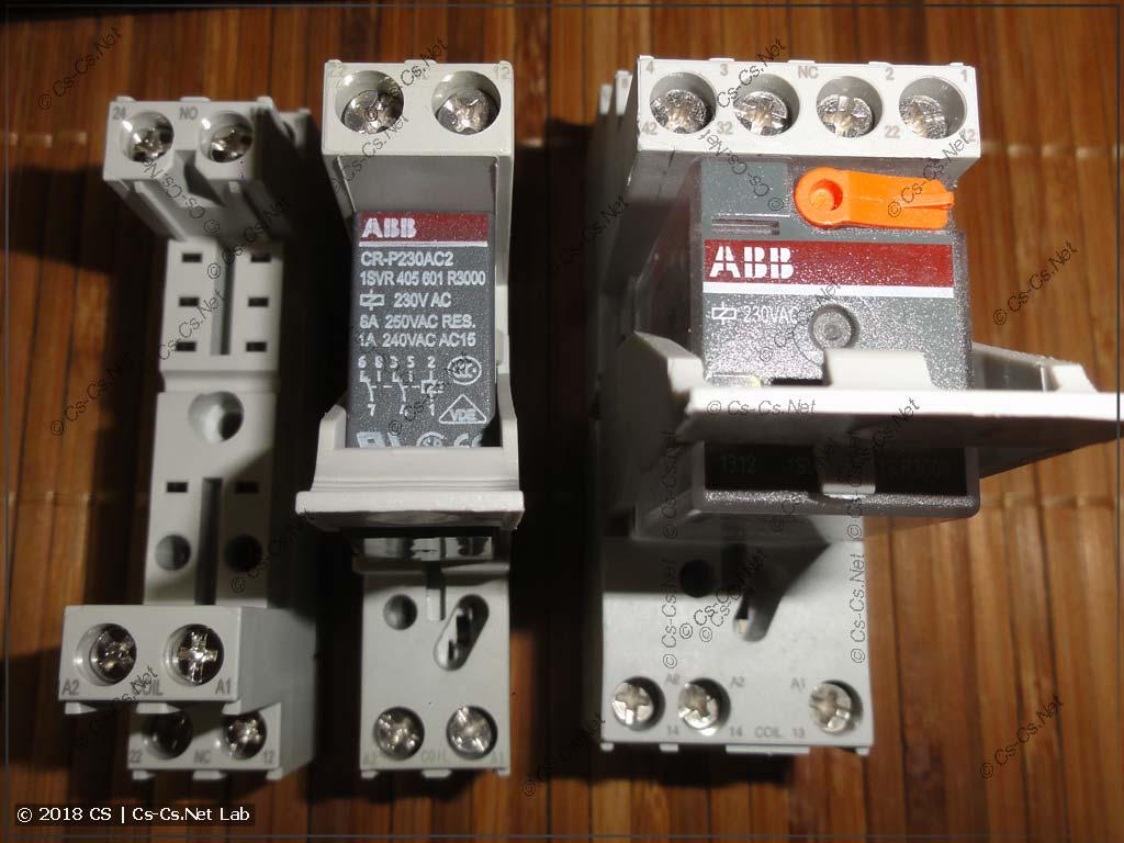 Фотография контактов колодок реле CR-P, CR-M (общее)