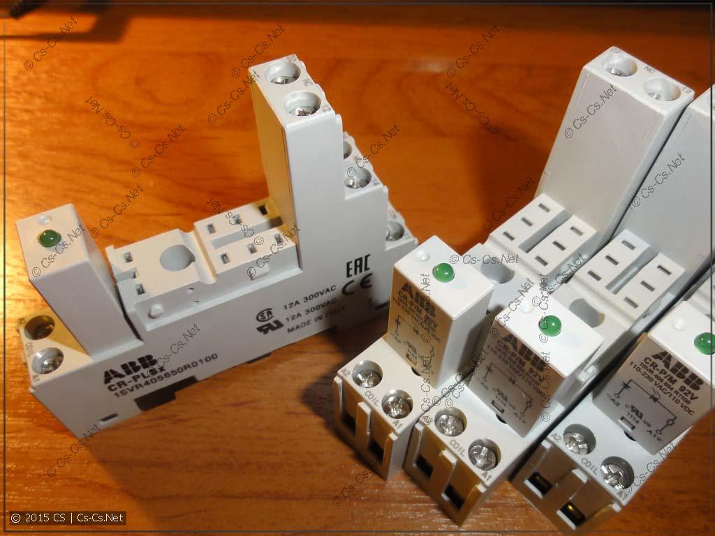 Пустые колодки: модуль индикации не мешает вынимать реле