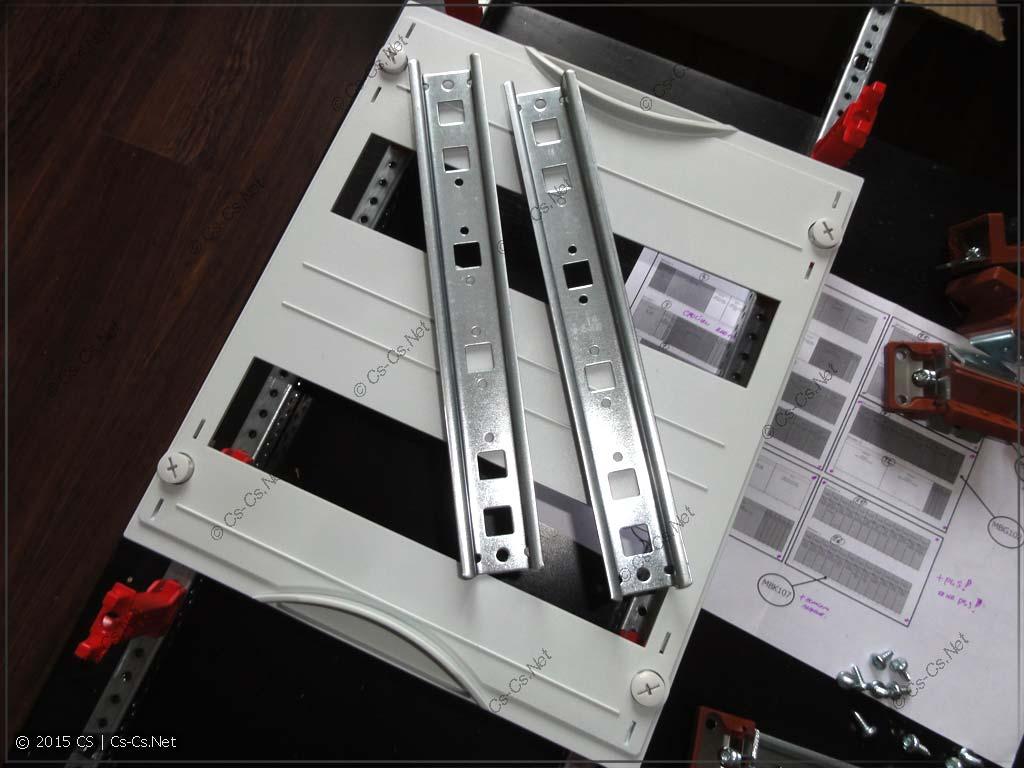 Пластрон и DIN-рейки модуля MBG