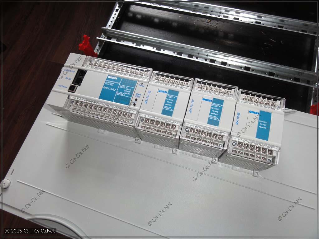 Подготовка к установке ПЛК ОВЕН 110 на монтажную панель