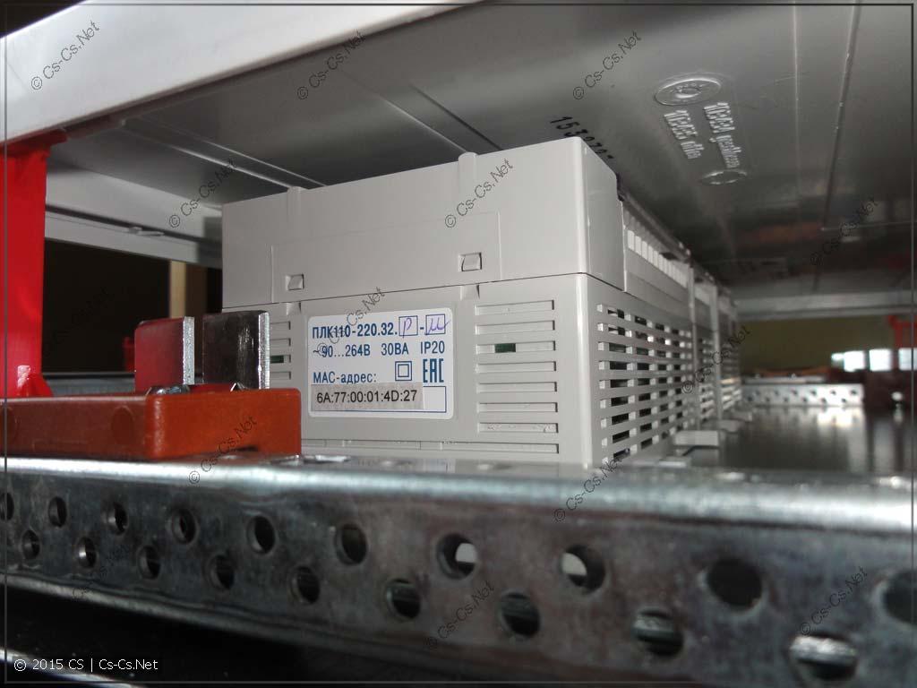 Примерка закрывания ПЛК пластроном щита