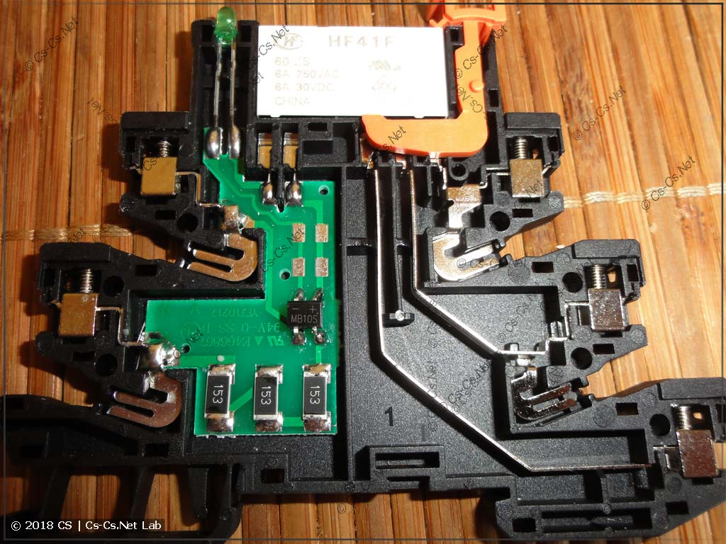 Внутреннее устройство электроники реле типа CR-S и их аналогов