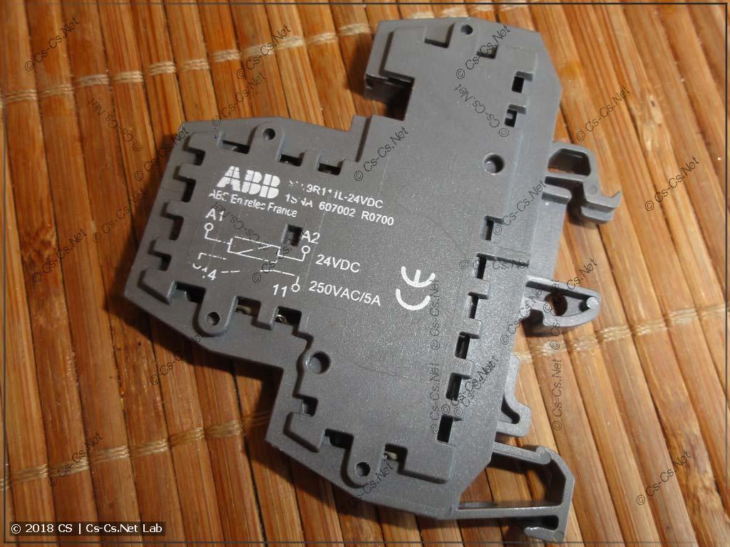 Старое интерфейсное реле ABB на базе клеммы M4/6.D2