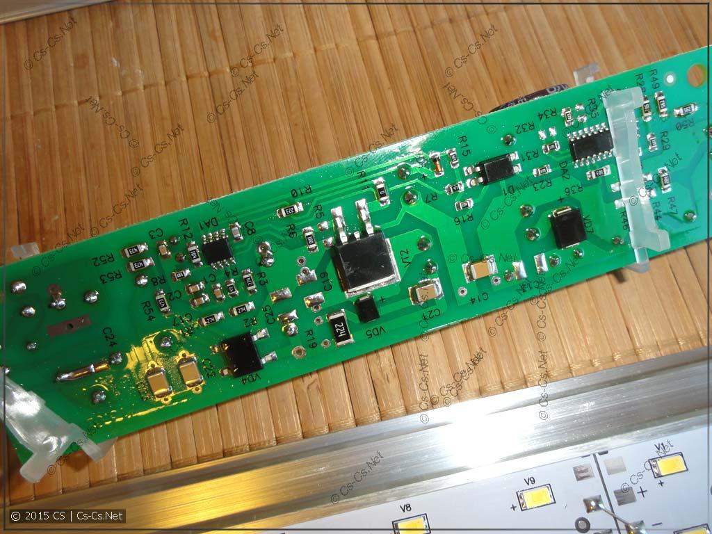 Задняя часть платы драйвера светильников серии ISK