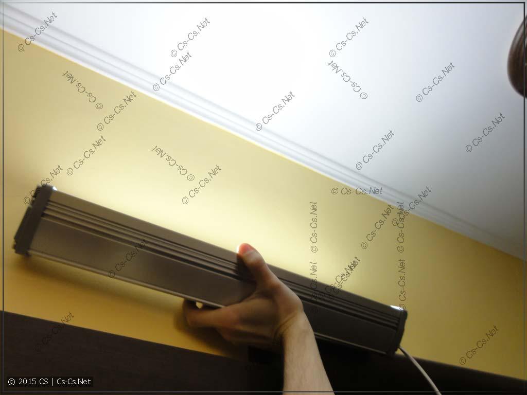 Тестирование светильника ISK18-01-C-02 (на потолок)