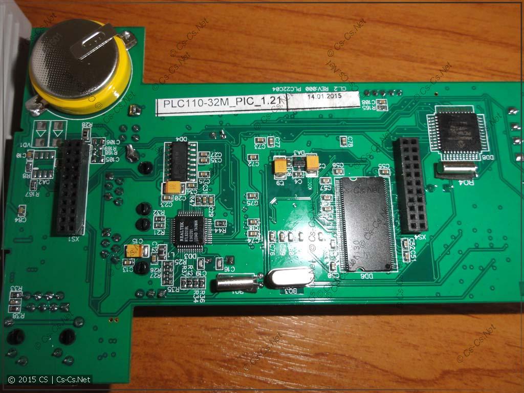Задняя сторона платы контроллера с резервным аккумулятором