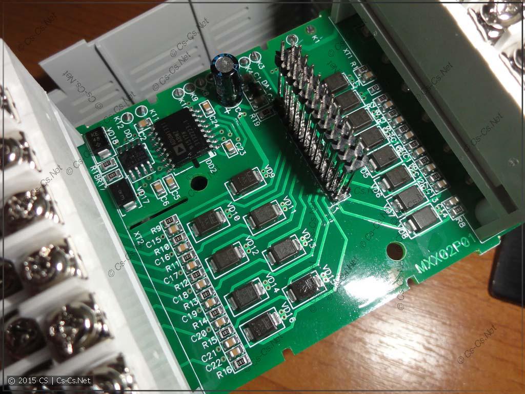 Плата входов (оптопар) модуля МВ110-16Д