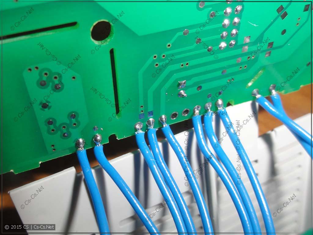 Неаккуратная пайка проводов между платами модуля
