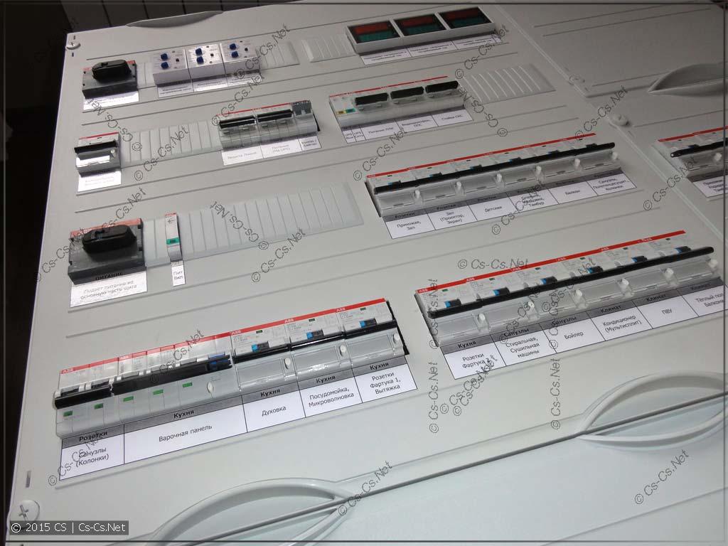 Силовой щит квартиры на базе ПЛК с автоматикой управления освещением