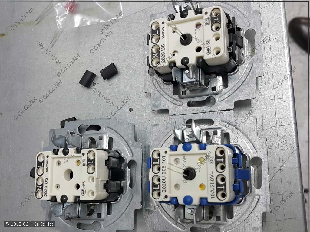 Кнопки с установленными светодиодами подсветки