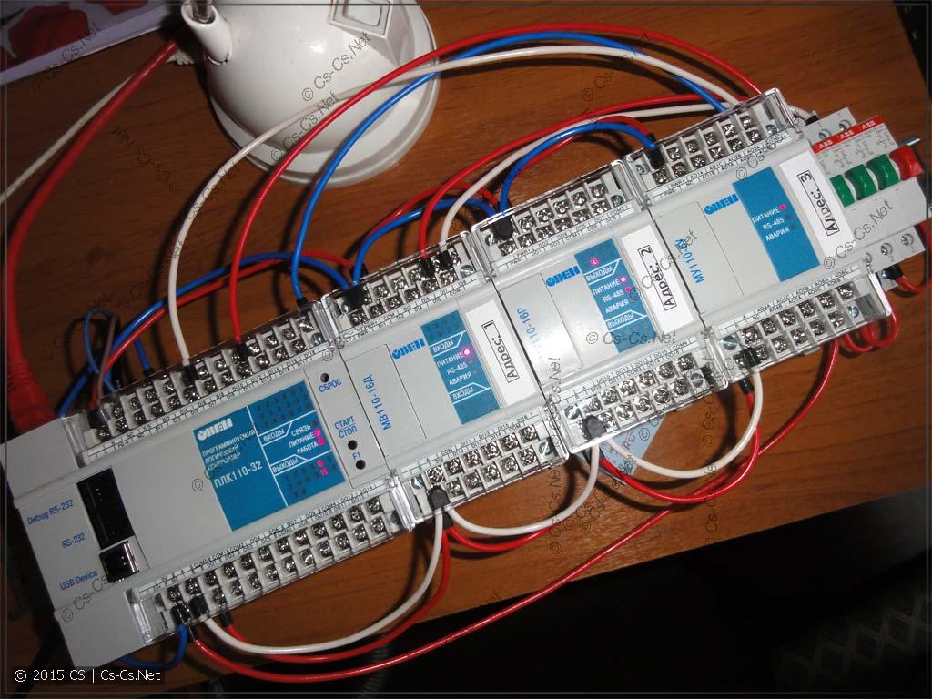 Тестовый стенд для ОВЕН ПЛК 110