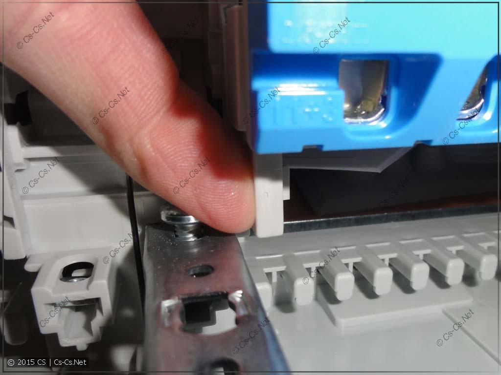 Демонтаж шинок из щита AT/U - слева