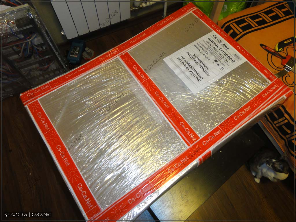 Упаковка щита AT/U для отправки в другой город
