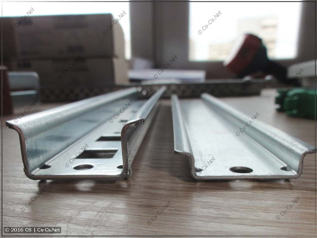 DIN-рейки 15 и 7,5 мм высотой