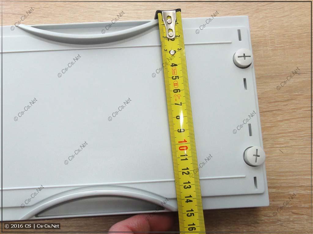 Размер (высота) одинарного пластрона (1x1 панель)