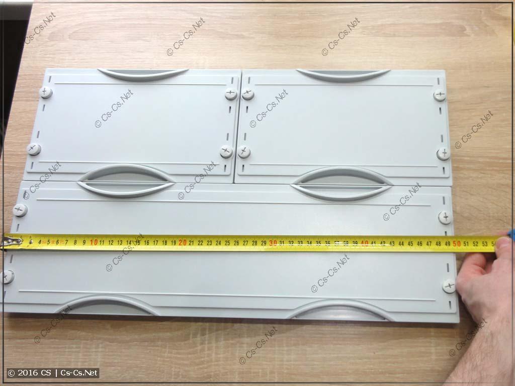 Размер (ширина) пластрона (1x2 панели)