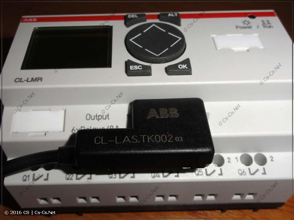 Кабель для подключения логических реле ABB CL (Eaton Easy) к компьютеру