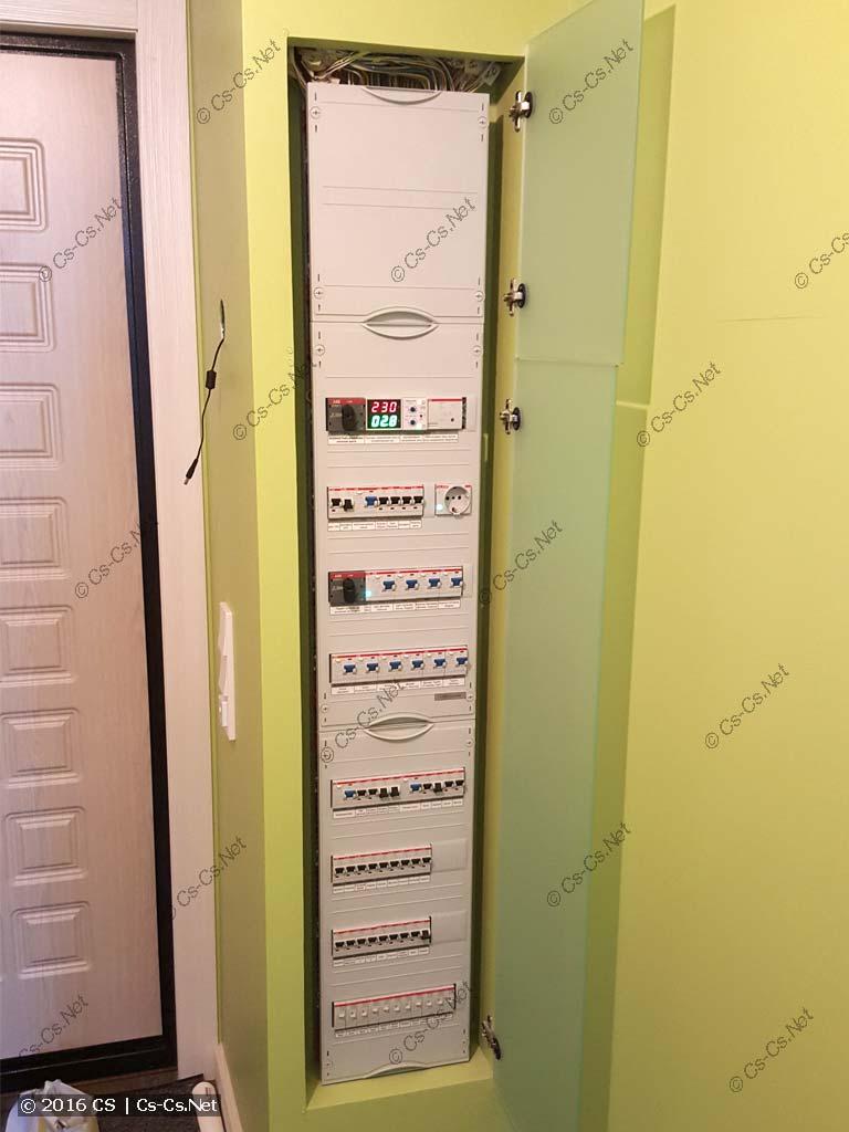 Пример щита на базе EDF-панели со стеклом