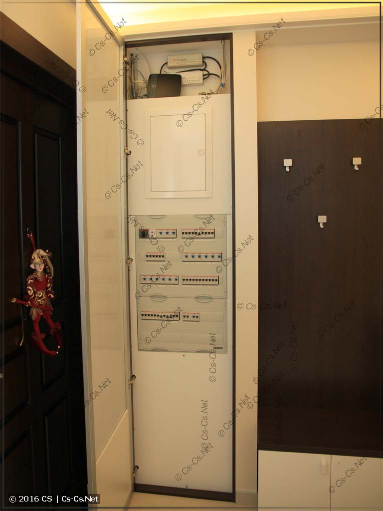 Пример монтажа квартирного щита на базе EDF-панели