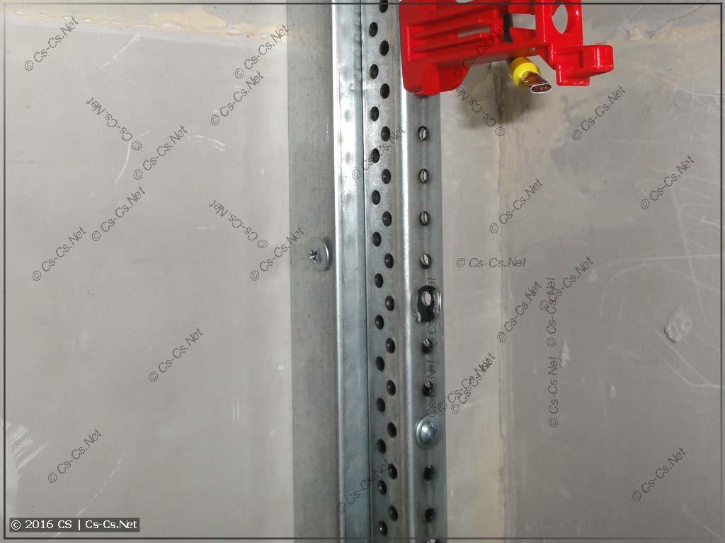 Крепление EDF-профиля к стене