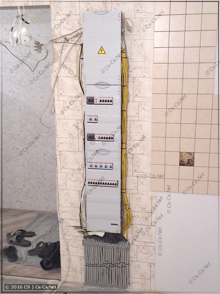 Щит квартиры на базе EDF-панели
