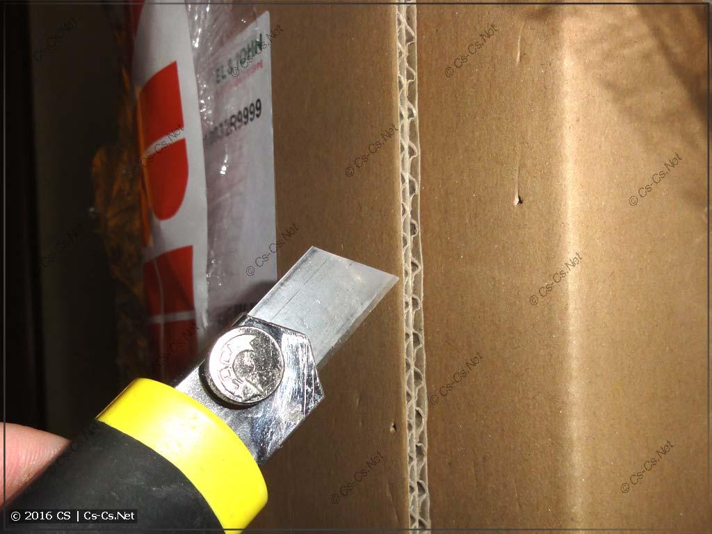 Шкаф ABB серии TwinLine - вскрытие коробки