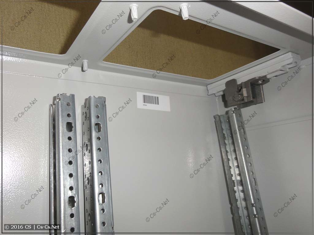 WR-рама приготовлена к установке в шкаф TwinLine