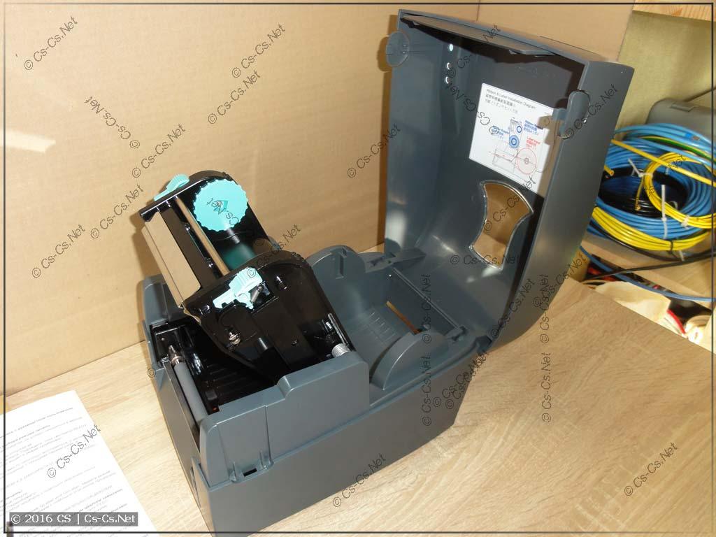 Термотрансферный принтер GODEX G500: корпус открыт