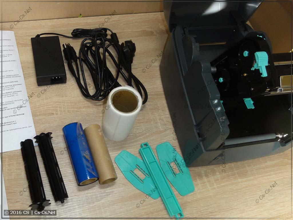 Термотрансферный принтер GODEX G500: Втулки для установки риббона