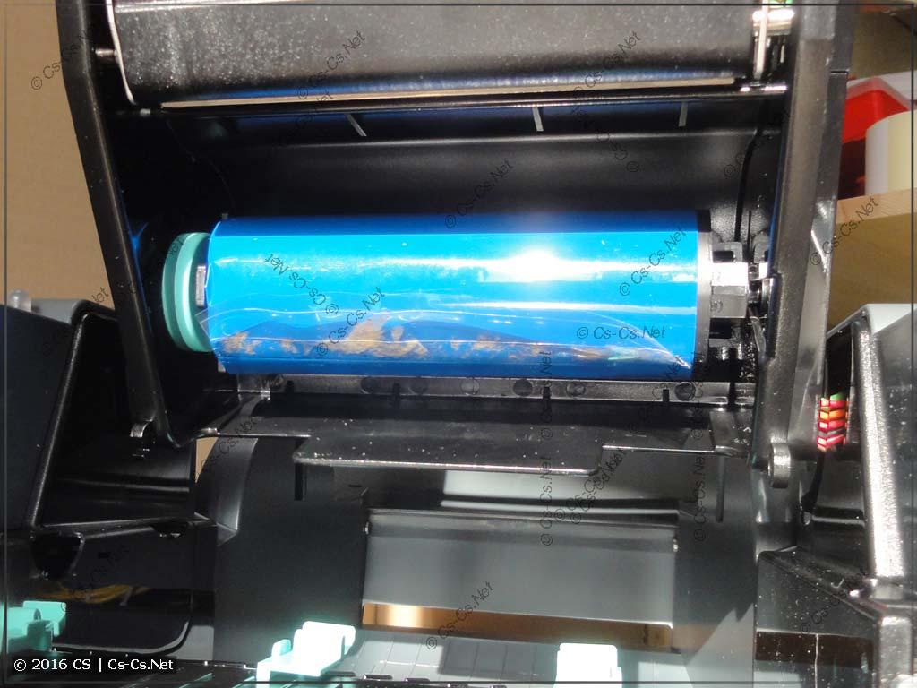 Установка втулки с риббоном в GODEX G500