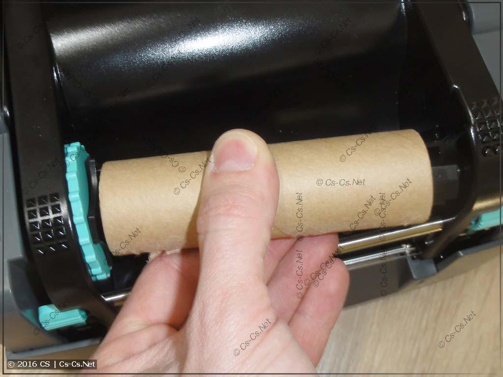 Установка втулки в принтер GODEX G500