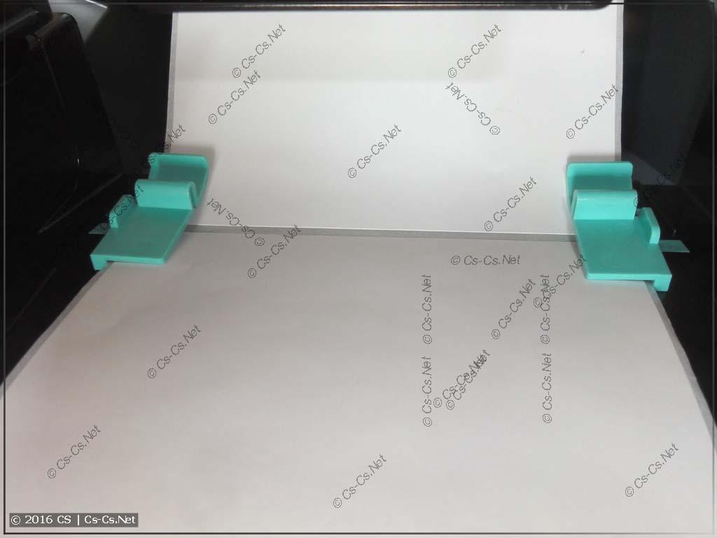 Установка этикеток в GODEX G500 (фиксация краёв)