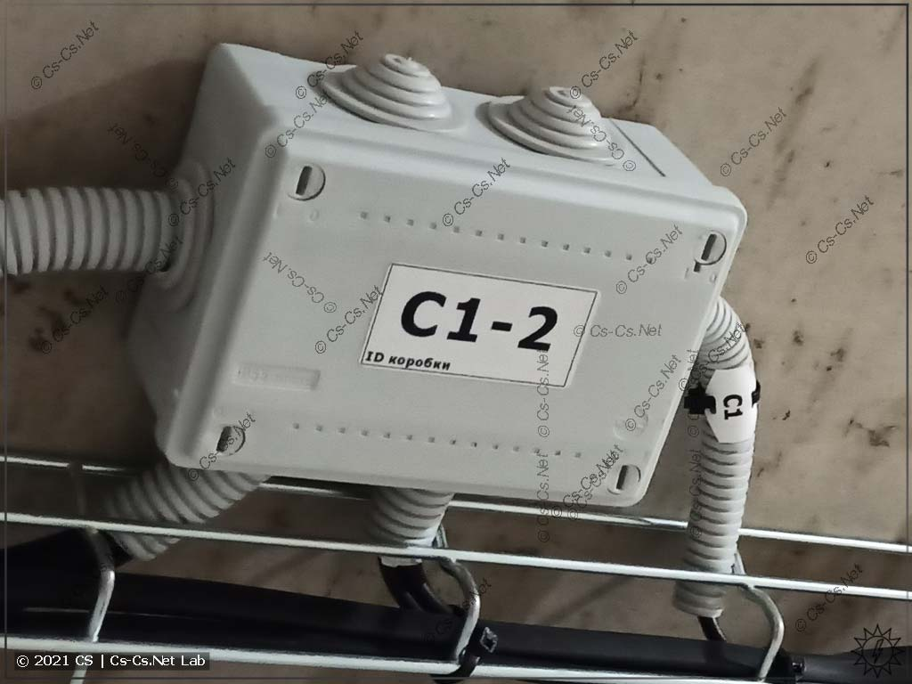 Пример маркировки кабелей (бирки WAGO) и соединительных коробок на принтере Godex G500